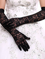 cheap -Lace Polyester Opera Length Glove Classical Bridal Gloves Party/ Evening Gloves With Solid