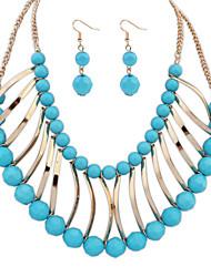 abordables -Mujer Collar / pendientes Joyas Moda estilo de Bohemia Euramerican Resina Joyas 1 Collar 1 Par de Pendientes Para Boda FiestaRegalos de