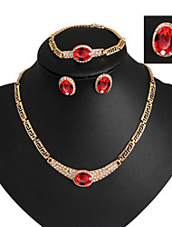 cheap -Women's Jewelry Set Vintage Party Fashion European Link/Chain Party Special Occasion Anniversary Birthday Gift Cubic Zirconia Gold Plated