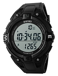 cheap -SKMEI Men's Sport Watch / Wrist Watch / Digital Watch Alarm / Calendar / date / day / Chronograph Rubber Band Charm Black / Water Resistant / Water Proof / LCD / Two Years / Maxell CR2025