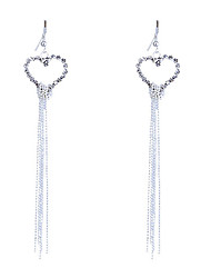 cheap -Drop Earrings Crystal Rhinestone Silver Plated Heart Fashion Heart Silver Jewelry Party Daily Casual 2pcs