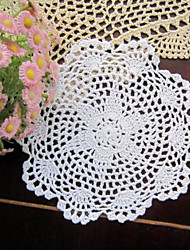 20pcs/Lot 20cm Round Handmade Crochet Embroidery Table Mat Wedding Decoration