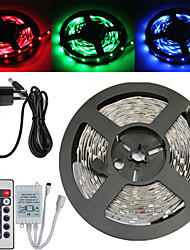 Z®ZDM Waterproof 5M 150X5050 SMD RGB LED Strip Light and 24Key Remote Controller and 3A US EU AU UK Power Supply (AC110-240V)