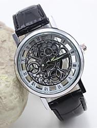 Недорогие -Опасности Unisex кожаная полоса аналогового кварцевого случайные часы (ассорти цветов)