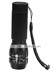economico -3 Torce LED LED 500 lm 3 Modo Cree Q5 Zoom disponibile Mini Resistente agli urti Ricaricabile Impermeabile  Strike Bezel Emergenza