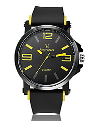 abordables -V6 Hombre Reloj de Pulsera Cuarzo Caucho Banda Negro