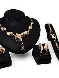 abordables -Collier / Boucles d'Oreille / Bracelet / Bague (Plaqué Or / Zircon Cubique) Vintage / Soirée pour Femme