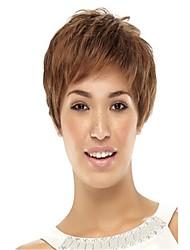 Недорогие -шапки цветовой гаммы дополнительных короткий высокого качества естественный прямо синтетический парик