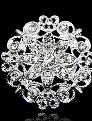 cheap -Men's Women's Couple's Children's Unisex Brooches Fashion Crystal/ Rhinestone Alloy Flower White Jewelry For Daily