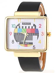 cheap -Women's Wrist Watch Chronograph PU Band Charm / Fashion Black / White / Red