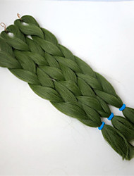 preiswerte -Jumbo-Zöpfe 1 Stück Haarzöpfe Gerade 24 Zoll Kunststoff Geflochtenes Haar Haarverlängerungen