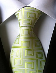 cheap -Men's Polyester Neck Tie,Vintage Cute Party Work Casual Print All Seasons Light Green