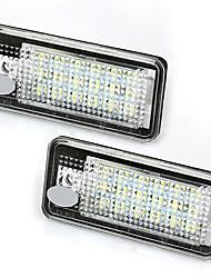 abordables -2pcs Automatique Ampoules électriques 3W LED Phare arrière For Audi B6 / 4F / 8P