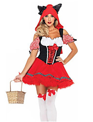 Fairytale Cosplay Costumes Party Costume Female Christmas Halloween Children's Day Festival / Holiday Halloween Costumes Red Patchwork