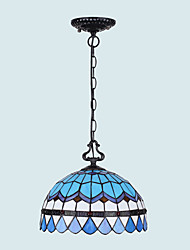 E27 220V 20*14CM 5-10㎡European Rural Creative Arts Stained Glass Chandelier Restoring Ancient Ways Lamp Led Light