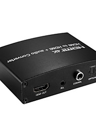 4K HDMI Audio Converter HDMI to HDMI audio Converter HDMI Input to HDMI Coaxial Optical Output DIP Setting with Power