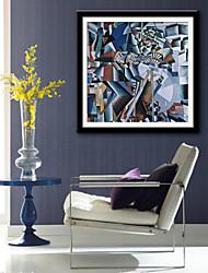 preiswerte -Gerahmtes Leinenbild Gerahmtes Set Abstrakt Freizeit Fantasie Wandkunst, PVC Stoff Mit Feld Haus Dekoration Rand Kunst Wohnzimmer