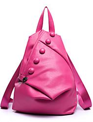 お買い得  -女性用 バッグ PU スクールバッグ / トラベルバッグ / バックパック のために スポーツ / アウトドア ブラック / グレー / フクシャ