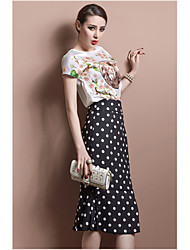 cheap -Women's Casual Trumpet/Mermaid Skirts - Polka Dot