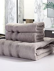 Ensemble de serviette de bain,Fil teint Haute qualité 100% Fibre de bambou Serviette