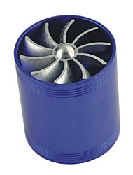 Недорогие -автомобиль автомобиль турбина турбонагнетатель воздухозаборник газ экономия топлива вентилятор синий (8 * 6,5 * 6,5 см)