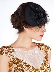economico -Donne Piume A rete Copricapo-Matrimonio Occasioni speciali All'aperto Fiori Cappelli