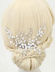 imiteret perle rhinestone legering hår kamme hovedstykke elegant stil