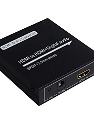 HDMI Audio Converter HDMI Input to HDMI Digital Audio Spdif 3.5mm Stereo Output Toslink Coaxial with Optical USB HDMI cable