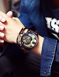 Fashion Men Dual Movement Geek Calendar Casual Waterproof Minimalist Unisex Quartzes Relogio Military Watches Wrist Watch Cool Watch Unique Watch