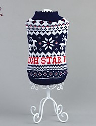 cheap -Cat Dog Sweater Dog Clothes Casual/Daily Snowflake Blue Costume For Pets