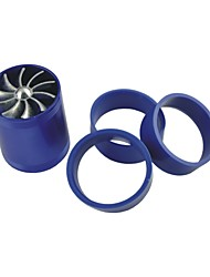cheap -Vehicles Car Double Turbine Turbo Charger Air Intake Gas Fuel Saver Fan Blue