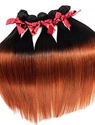 O cabelo liso e sedoso virgem brasileiro brilha 1pcs dois tons t1b / 30 extensões de cabelo remy tramas 50g / pcs