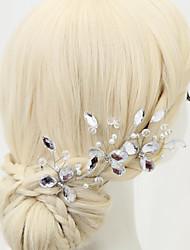 baratos -Imitação de Pérola / Strass / Liga Pino de cabelo com 1 Casamento / Ocasião Especial Capacete