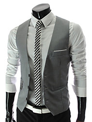 cheap -Men's Business Formal Slim Vest-Solid Colored