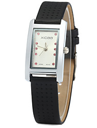 XICOO 450 Leather Band Women Diamond Quartz Watch