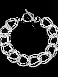 cheap -Noble Flash Twisting 925 Silver Sterling Chain & Link Bracelets For Woman&Lady