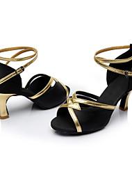 Dansesko (Sort / Blå / Brun / Rød) - Kan tilpasses - Personligt tilpassede hæle - Damer - Latin / Salsa / Samba