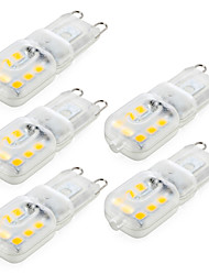 baratos -ywxlight® 4w g9 led bi-pin lights 14smd 2835 400lm quente / frio branco dimmable ac220 / 110v 5pcs