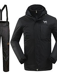 Men's Ski Jacket with Pants Waterproof Thermal / Warm Windproof Ski / Snowboard Snow Sports 100% Polyester