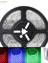 5M 75W 300x5050 SMD LED DC12V IP68 Waterproof Strip Light + 24Key Remote Control RGB