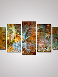cheap -5 Panels Carina Nebula Hubble  Picture Print on Canvas Unframed