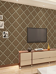 cheap -Geometric Home Decoration Contemporary Wall Covering, Non-woven Paper Material Adhesive required Wallpaper, Room Wallcovering