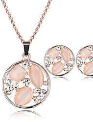 economico -Da donna Cristallo Opal sintetico Matrimonio Feste Opale 1 paio di orecchini Collane