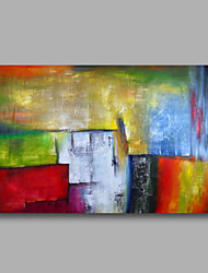 cheap -Ready to hang Stretched Hand-Painted Oil Painting on Canvas Wall Art Abstract Contempory Blue Green Red One Panel