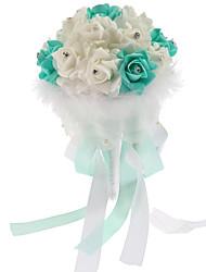 Bouquet sposa Tondo Rose Bouquet Matrimonio Schiuma 18 cm ca.