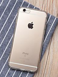 Недорогие -Кейс для Назначение Apple iPhone 6 Plus / iPhone 6 Прозрачный Кейс на заднюю панель Однотонный Мягкий ТПУ для iPhone 6s Plus / iPhone 6s / iPhone 6 Plus