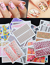 cheap -30Pcs Foreign Hot Manicure Stickers Wholesale Nail Stickers Decals Manicure Watermark Set Of 30 Mixed