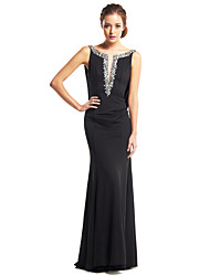 Mermaid / Trumpet Scoop Neck Floor Length Jersey Prom Formal Evening Dress with Beading by TS Couture®