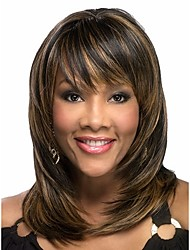 cheap -Hot Sale  Women Lady Synthetic Blend Color Hair Wave  Wig To  African