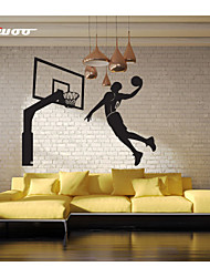 AWOO® New Pattern Play Basketball Wall Stickers Home Decor Vinyl Basketball Stands Stickers For Kids Room Decoration